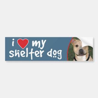 I Love My Shelter Dog - Pitbull Bumper Sticker
