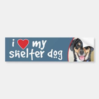 I Love My Shelter Dog Shepherd Lab Mix Bumper Sticker