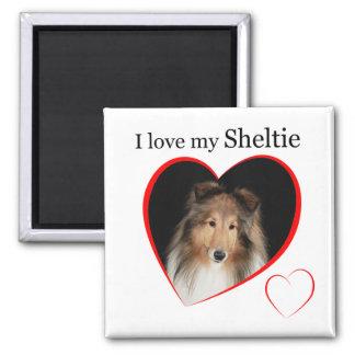 I Love my Sheltie #1 2 Inch Square Magnet