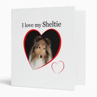 I Love my Sheltie #1 Binder