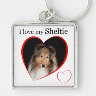 I Love my Sheltie #1 Keychain