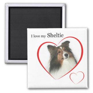 I Love my Sheltie #2 2 Inch Square Magnet