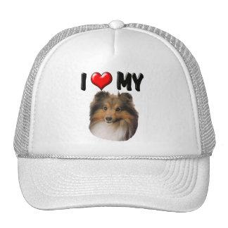 I Love My Sheltie Mesh Hats
