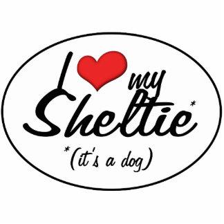 I Love My Sheltie (It's a Dog) Photo Sculptures