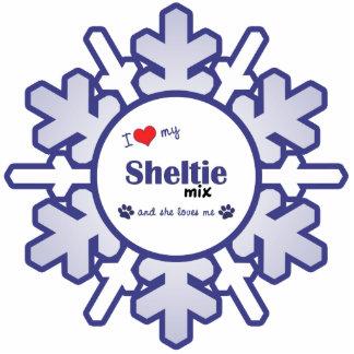 I Love My Sheltie Mix (Female Dog) Photo Sculpture