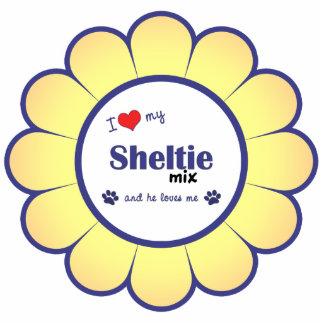I Love My Sheltie Mix (Male Dog) Photo Cut Out