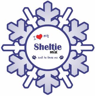 I Love My Sheltie Mix (Male Dog) Photo Sculpture