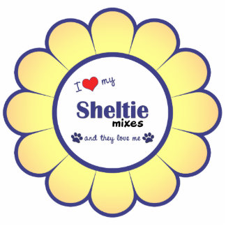 I Love My Sheltie Mixes (Multiple Dogs) Photo Cut Outs
