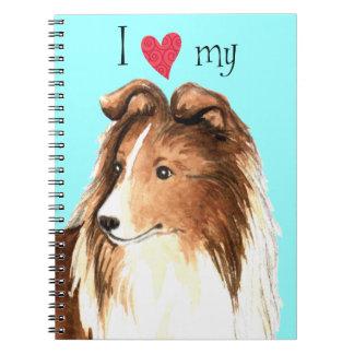 I Love my Sheltie Notebook