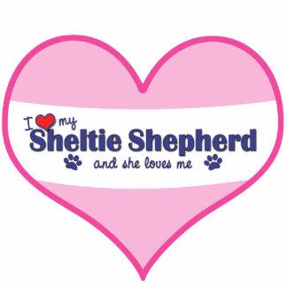 I Love My Sheltie Shepherd (Female Dog) Photo Cut Out