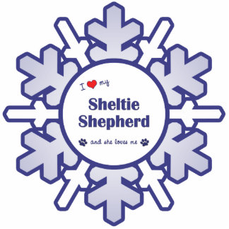 I Love My Sheltie Shepherd (Female Dog) Photo Sculptures