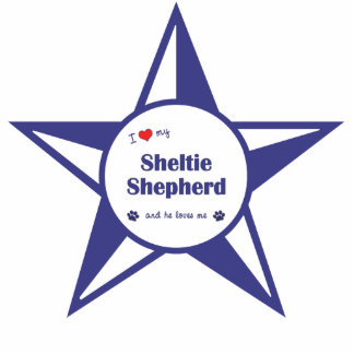 I Love My Sheltie Shepherd (Male Dog) Cut Outs