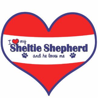 I Love My Sheltie Shepherd (Male Dog) Acrylic Cut Outs