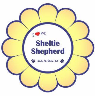 I Love My Sheltie Shepherd (Male Dog) Photo Cut Outs