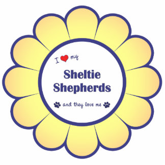 I Love My Sheltie Shepherds (Multiple Dogs) Photo Cutouts