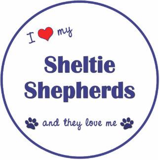 I Love My Sheltie Shepherds (Multiple Dogs) Photo Sculptures