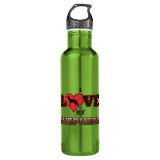 I Love My Shepherd 24oz Water Bottle