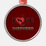 I Love My Shepherd Christmas Ornament