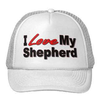 I Love My Shepherd Dog Gifts and Apparel Trucker Hat