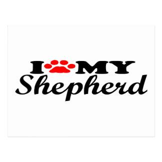 I Love My Shepherd Postcard