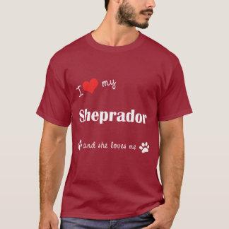 I Love My Sheprador (Female Dog) T-Shirt