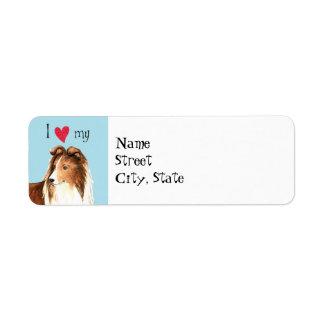 I Love my Shetland Sheepdog Label