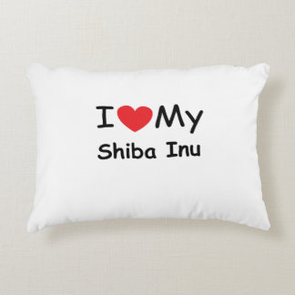 I love my Shiba Inu dog Accent Pillow