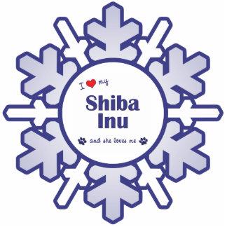 I Love My Shiba Inu (Female Dog) Statuette