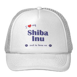 I Love My Shiba Inu (Male Dog) Trucker Hat