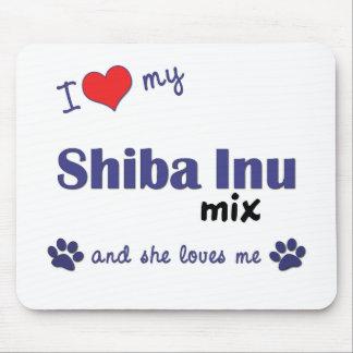 I Love My Shiba Inu Mix (Female Dog) Mouse Pad