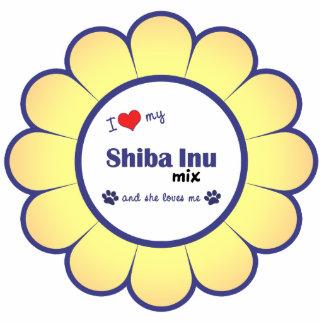I Love My Shiba Inu Mix (Female Dog) Photo Statuette