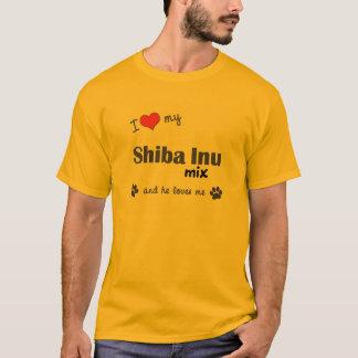 I Love My Shiba Inu Mix (Male Dog) T-Shirt