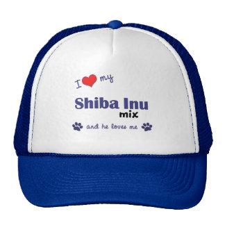 I Love My Shiba Inu Mix (Male Dog) Trucker Hat