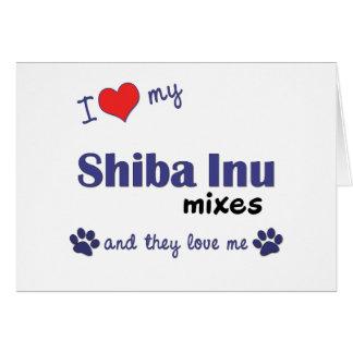 I Love My Shiba Inu Mixes (Multiple Dogs) Card