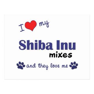 I Love My Shiba Inu Mixes (Multiple Dogs) Postcard