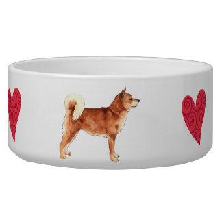 I Love my Shiba Inu Dog Water Bowl