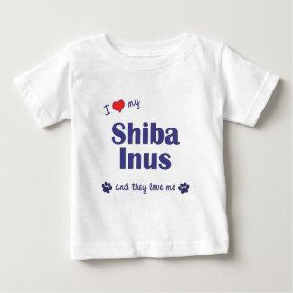 I Love My Shiba Inus (Multiple Dogs) Baby T-Shirt