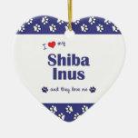 I Love My Shiba Inus (Multiple Dogs) Ornament
