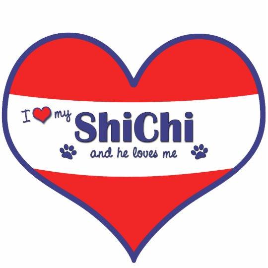 I Love My ShiChi (Male Dog) Statuette