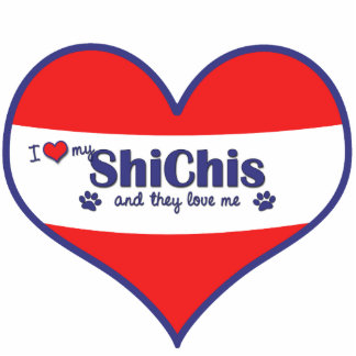 I Love My ShiChis (Multiple Dogs) Cutout