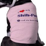 I Love My Shih-Poo (Female Dog) Dog Tee Shirt