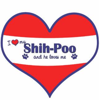 I Love My Shih-Poo (Male Dog) Statuette