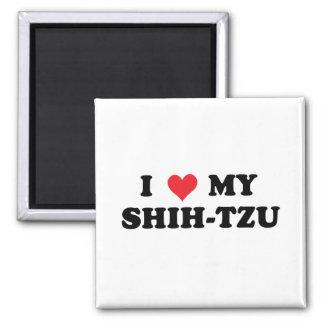 I Love My Shih Tzu 2 Inch Square Magnet