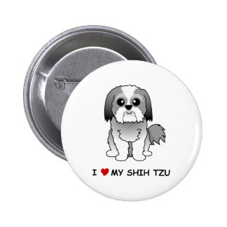 I love my Shih Tzu Badge Button