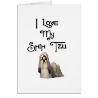 I Love My Shih Tzu Greeting Card