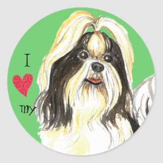 I Love my Shih Tzu Classic Round Sticker