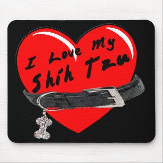 I Love My Shih Tzu Colored Mousepad