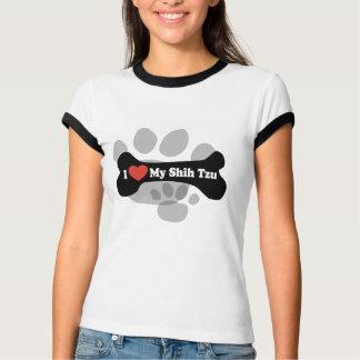 I Love My Shih Tzu - Dog Bone T-Shirt