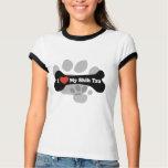 I Love My Shih Tzu - Dog Bone T-shirts