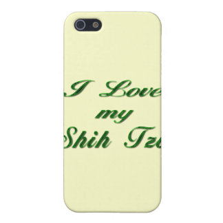 I Love my Shih Tzu green Cover For iPhone SE/5/5s